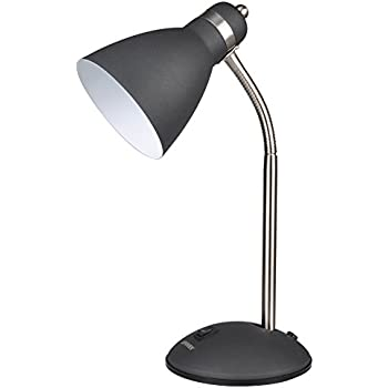 Flexible desk lamp black amazon lepower metal desk lamp flexible goose neck table lamp eye caring study lamps for bedroom and office black aloadofball