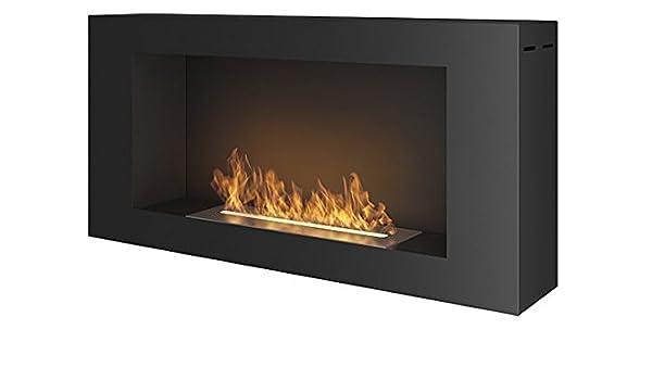 Chimenea de bioetanol Blackbox, de 91 x 44 cm, color negro mate: Amazon.es: Bricolaje y herramientas