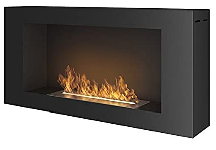 Chimenea de bioetanol Blackbox, de 91 x 44 cm, color negro mate