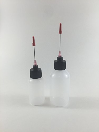 Plastic Squeeze Bottles 1oz, 2oz with 1.5 inch Stainless Steel Applicators ()