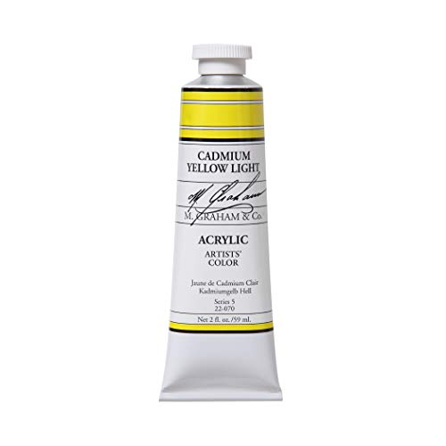 M. Graham 2-Ounce Tube Acrylic Paint, Cadmium Yellow - Cadmium Yellow Colors Light
