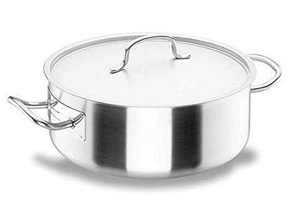 Lacor Chef-Classic 50045 - Cacerola con tapa, Acero Inoxidable 18/10,