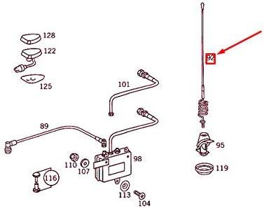 MB SL R129 A0008208675 - Antena telefónica: Amazon.es: Coche ...