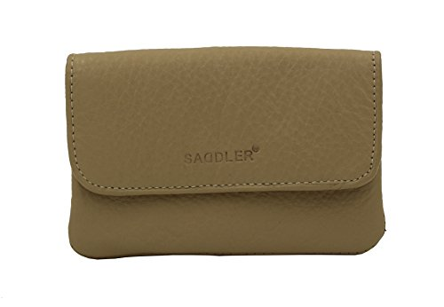 SADDLER Womens Nappa Leather Triple Gusset Coins and Key Flap Purse - (Leather Triple Gusset Flap)