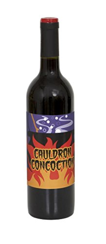 Halloween Wine Bottle Labels, 4ct -