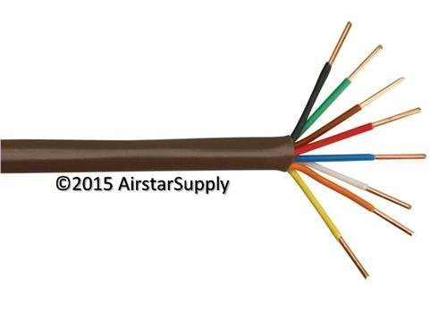 Coleman Cable 18/8 Thermostat Wire • 18 Gauge 8 Conductor • 50 foot