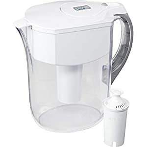 Brita Standard Grand Water Filter Pitcher, White, Large 10 Cup, 1 Count 3