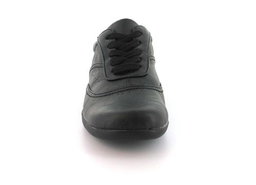 Zapatos Estilo Casual de Cordones para Dama, muy Cómodos - Color Negro - Tallas 5-10 US