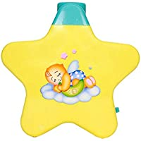 Zest 4 Toyz Battery Operated Musical Infant Angel'S Star Projector For Babies - Multi Color