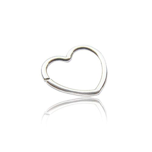 Sterling Silver Cartilage Heart Shape Cuff (good for pierced or non pierced) 18g ()