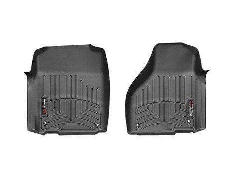 WeatherTech 2012-2013 Dodge Ram 1500/2500/3500 Truck Black Front Floor Liner [Regular Cab; Driver and Passenger-Side Floor Hooks]