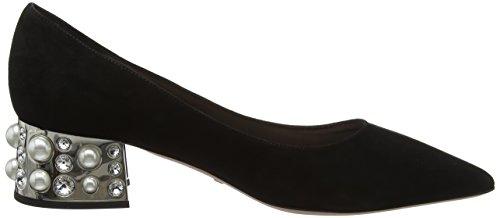 Sebastian S7569, Scarpe col Tacco Punta Chiusa Donna Nero (Black Suede Nero)