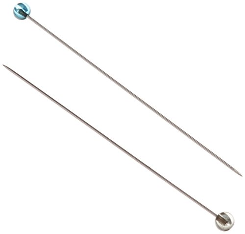 100PK OF CRYSTAL GLASS HEAD PINS, FINE SHARP-1 7/8, .5MM STEEL SHAFT ()