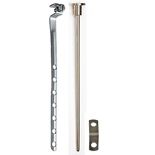 - PF WaterWorks PF0906-PBUniversal Lavatory Pop-Up Drain Lift Rod Assembly - Pull Rod, Linkage, and Spring ClipPolished Brass1Piece
