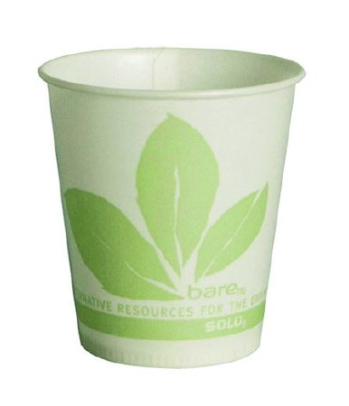 12 Oz Waxed Cold Cup - Solo R10NBB-JD110 10 oz Bare Waxed Cold Cup (Case of 2000)