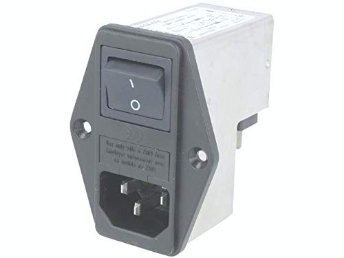 Power Entry Connector, FKH Series, Plug, 250 VAC, 6 A, Panel Mount, Quick Connect by Schurter