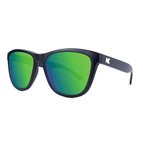 Knockaround Premiums Polarized Sunglasses With Matte Black Frames/Green Reflective Lenses