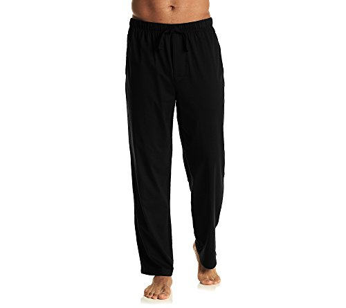 John Bartlett Statements Men's Sueded Knit Pajama Pants Midnight Black Large Stretch Sueded Cotton Pants