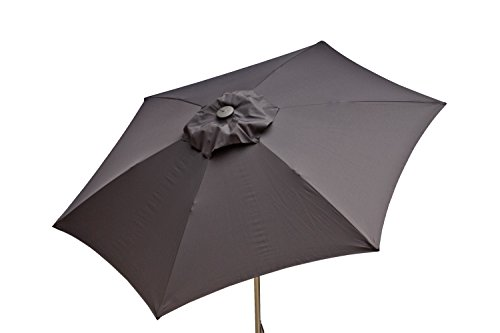 (Heininger 1204 Charcoal Gray 8.5' Push-Up Market Style Umbrella by DestinationGear)
