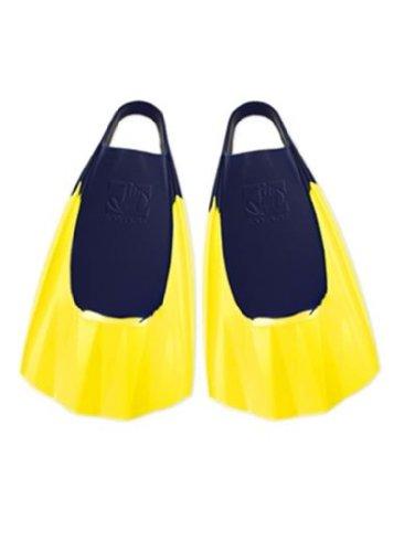 Body Glove Bodyboarding Fins (Pro Model), X-Large, Blue/Yellow