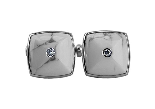 MONTBLANC TRIBUTE TO MB CUFFLINKS DIAMOND STEEL MARBLE106911 GERMANY
