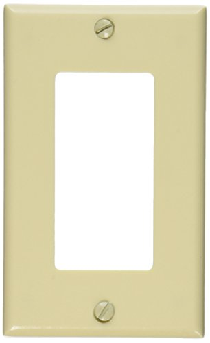 Leviton 80401-I 1-Gang Decora/GFCI Device Wallplate, Standard Size, Thermoset, Device Mount, ()