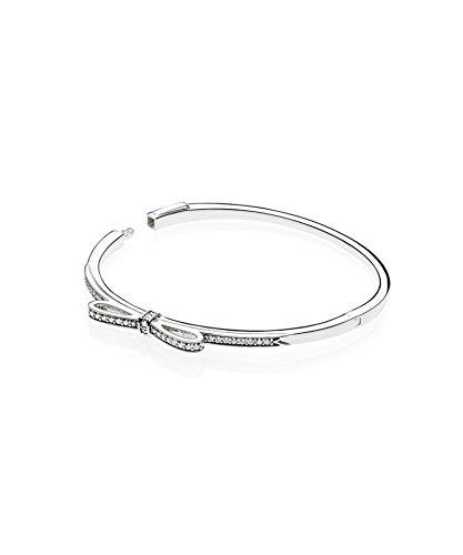 PANDORA - Bracelet Jonc N?ud Scintillant argent 925/1000 PANDORA 590536CZ - 16 CM