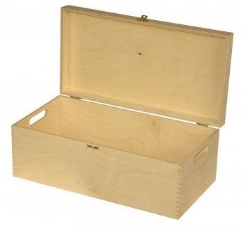 Decocraft Large Plain Wood Keepsake Souvenirs Wooden Memory Box For Craft P47