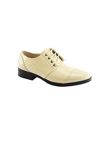 Oxford 6 Cap Panel Women Lace 11 Toe Liyu Shoes Like Adult Beige Croc up wxqzPU