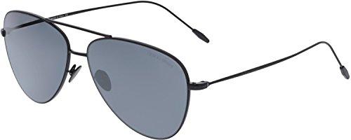 Giorgio Armani Mens Sunglasses Black Matte/Grey Metal,Steel - Non-Polarized - 58mm
