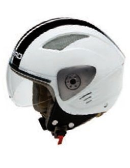 CASCO SHIRO DEMI-JET SH-90 BICOLOR BLANCO