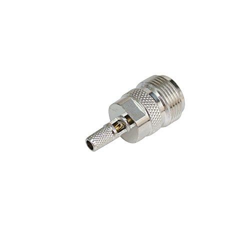 Proutone RF Conector N hembra para crimpar RG58 RG142 LMR195 RG400 RF Cable coaxial: Amazon.es: Electrónica