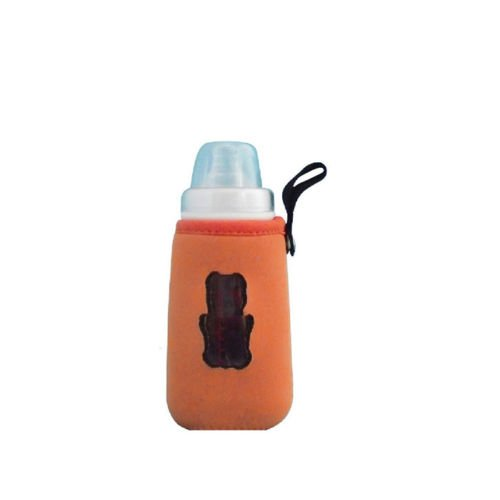 Kids Baby Pouch Bottle Cover Holder Insulated Warmer Lanyards Size Extra large L/Orange Color
