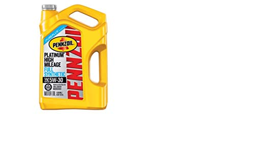 Pennzoil Platinum High Mileage Full Synthetic 5W-30 Motor Oil for Vehicles Over 75K Miles (5-Quart, Single-Pack) (The Best Synthetic Motor Oil On The Market)