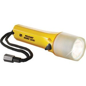 Pelican 2410PLC | Carded Photoluminescent StealthLite LED Flashlight Yellow