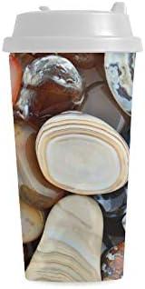 Naturaleza Pulido Piedras colores Impresión personalizada personalizada 16 Oz Doble pared Plástico Aislado Deportes Tazas botellas agua Viajes cercanías Tazas café para Mujeres Leche la té