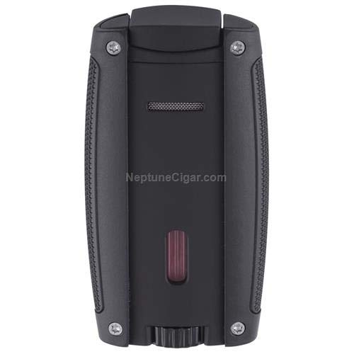 Turismo Double Flame Cigar Lighter in an Attractive Gift Box Lifetime Warranty Matte Black - Cigar Double