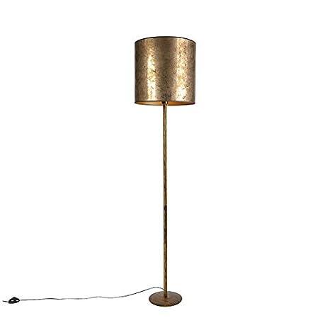 QAZQA Clásico/Antiguo Lámpara de pie vintage dorada con ...