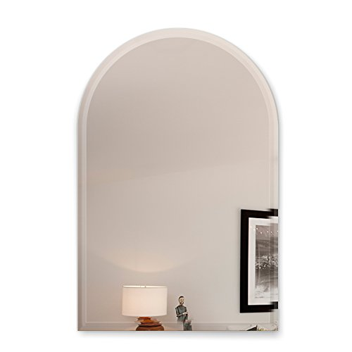 Fab Glass and Mirror 18X30 Inch Arch Frameless Mirror 1