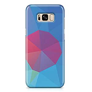 Samsung S8 Plus Case Blue Pink Spot Geomaterical Pattern Metal Plate Light Weight Samsung S8 Plus Cover Wrap Around