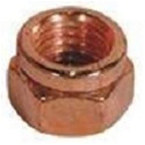 - 25 M8-1.25 Exhaust Lock Nut Copper Plated Steel 12mmHex