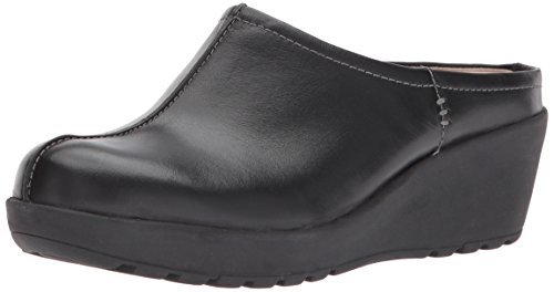 Jaiva Mule, Black Leather, 6.5 M US (Easy Spirit Leather Clogs)