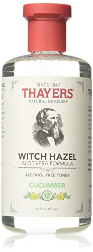 Thayers Witch Hazel Toner With Aloe Vera Formula Alcohol-Free Cucumber - 12 Oz, Pack of 3