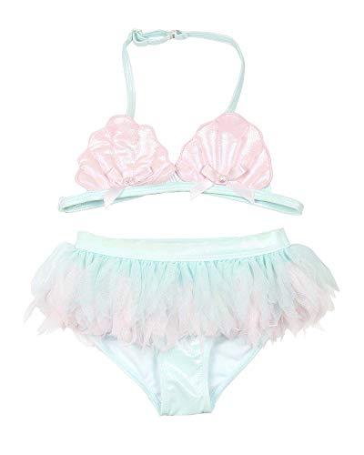 Swimsuit Kate 2 Piece Mack - Kate Mack Girls' Underwater Magic Shiny Bikini, Sizes 4-10 - 6 Light Blue