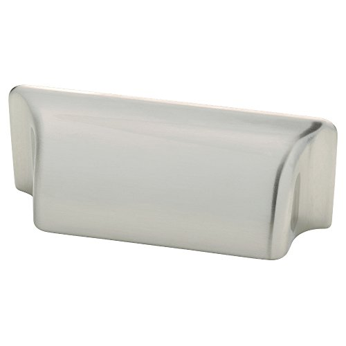 Liberty P17212V-SN-C 3 Inch Rectangular Bin Kitchen or Furniture Cabinet Hardware Handle Pull, Satin (Rectangular Bin Pull)
