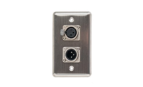 Elite Core Duplex Wall Plate w/1 XLR Male and 1 XLR Female Connections (Speakon Wall Plate Single)