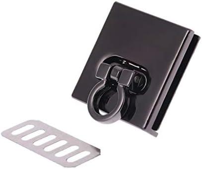 Kinmyメタルツイストロックバッグケースクラスプハンドバッグクロスボディショルダーバッグ財布アクセサリーDIYクラフトホワイト