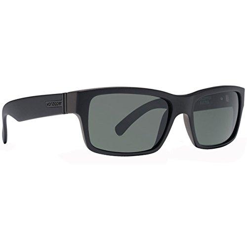 VonZipper Fulton Sunglasses  Black Satin with Grey - Sunglasses Fulton