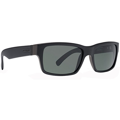 VonZipper Fulton Sunglasses  Black Satin with Grey - Vonzipper Sun Glasses