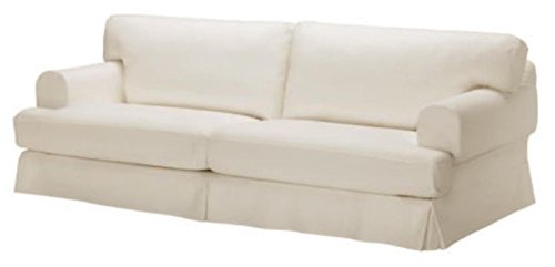 Durabale Dense Cotton Three Seat Hovas Sofa Cover Replacement Is Custom Made for Ikea Hovas 3 Seater Slipcover Only (Hovas Beige)